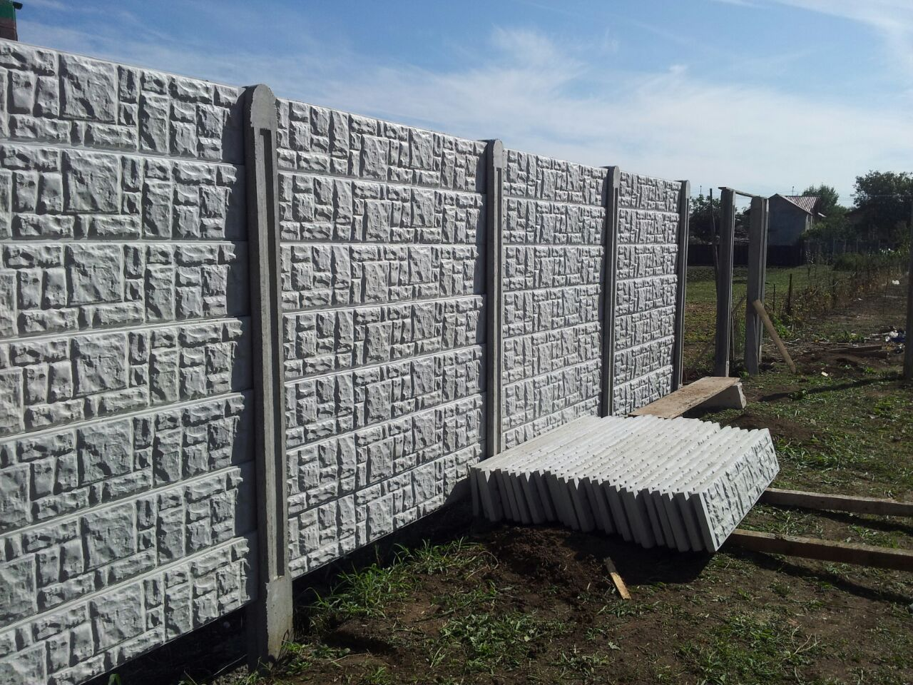 gard din beton 2 5m. Black Bedroom Furniture Sets. Home Design Ideas